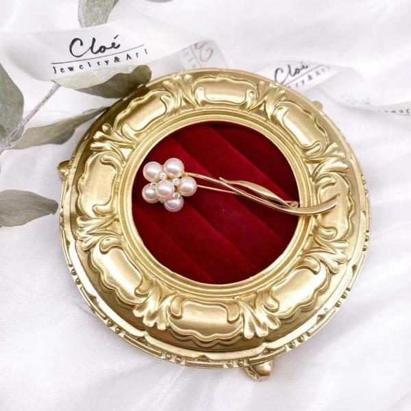 【Cloé 中古珠寶推薦———Akoya珍珠心口針】